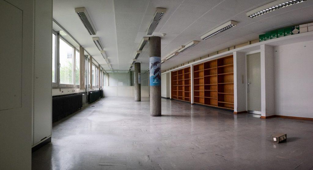 Asbestsanierung im Großraumbüro von Team 2